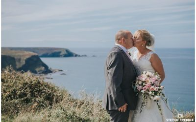 Emma and Neil DIY Barn Brea Cornwall Wedding Photographer