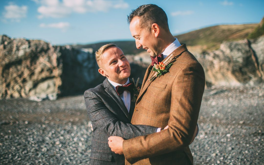 Adam and Glen Polhawn Fort Wedding Photography Cornwall