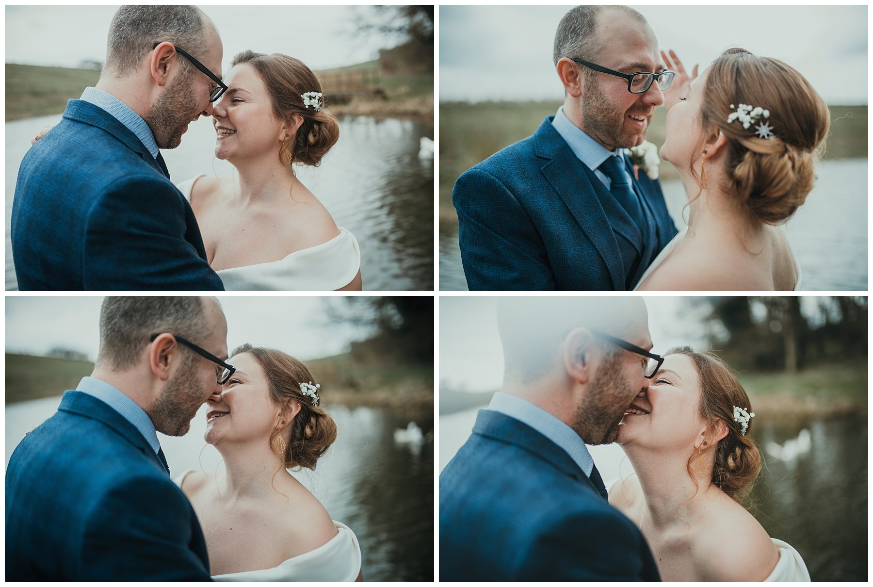Married couple photography by lake
