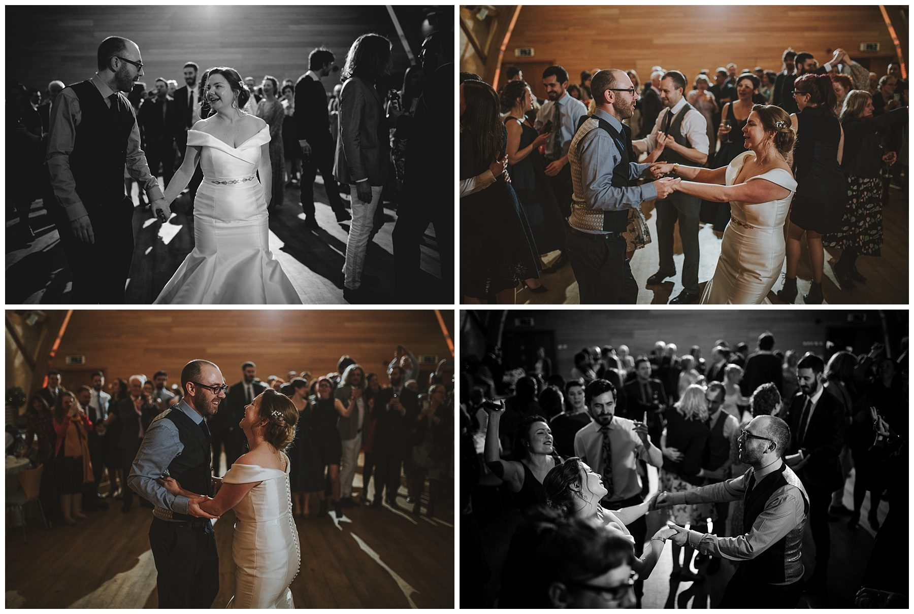 Wedding couple first dance at sheepdrove