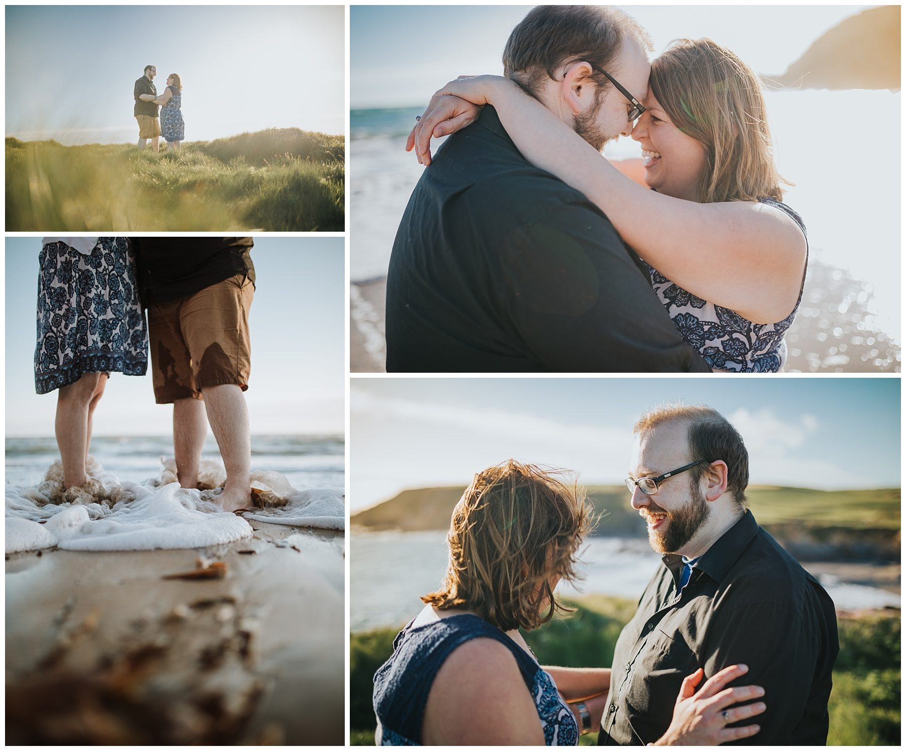 Sunset Couple engagement photography in Cornwall beach