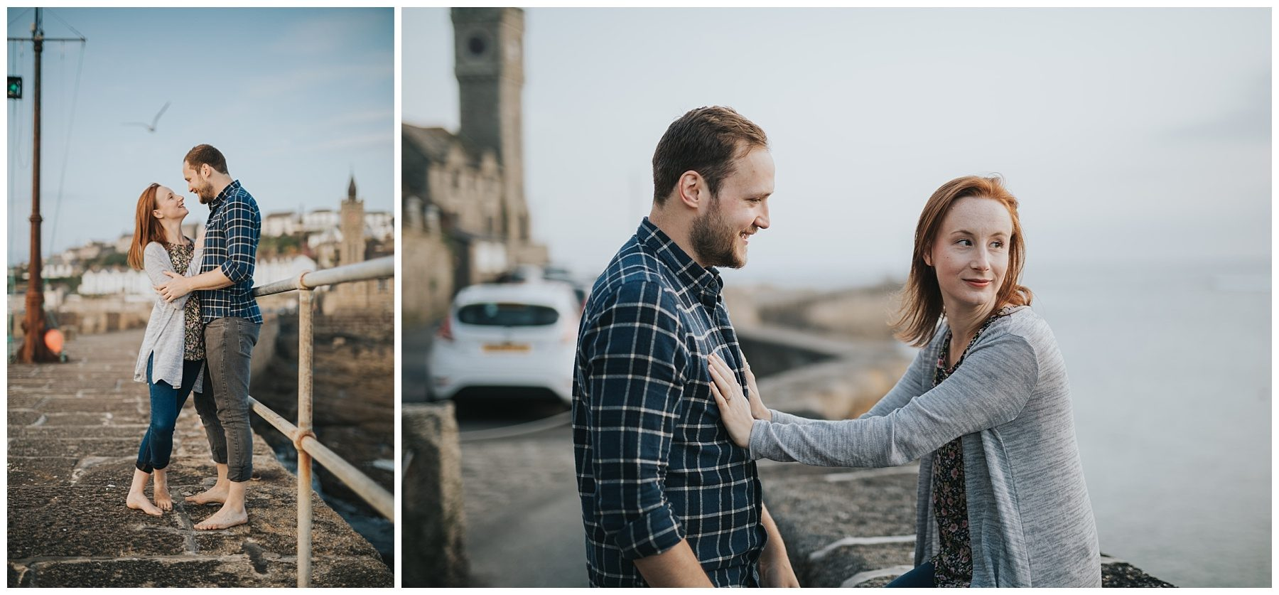 engagement couple photography in Cornwall
