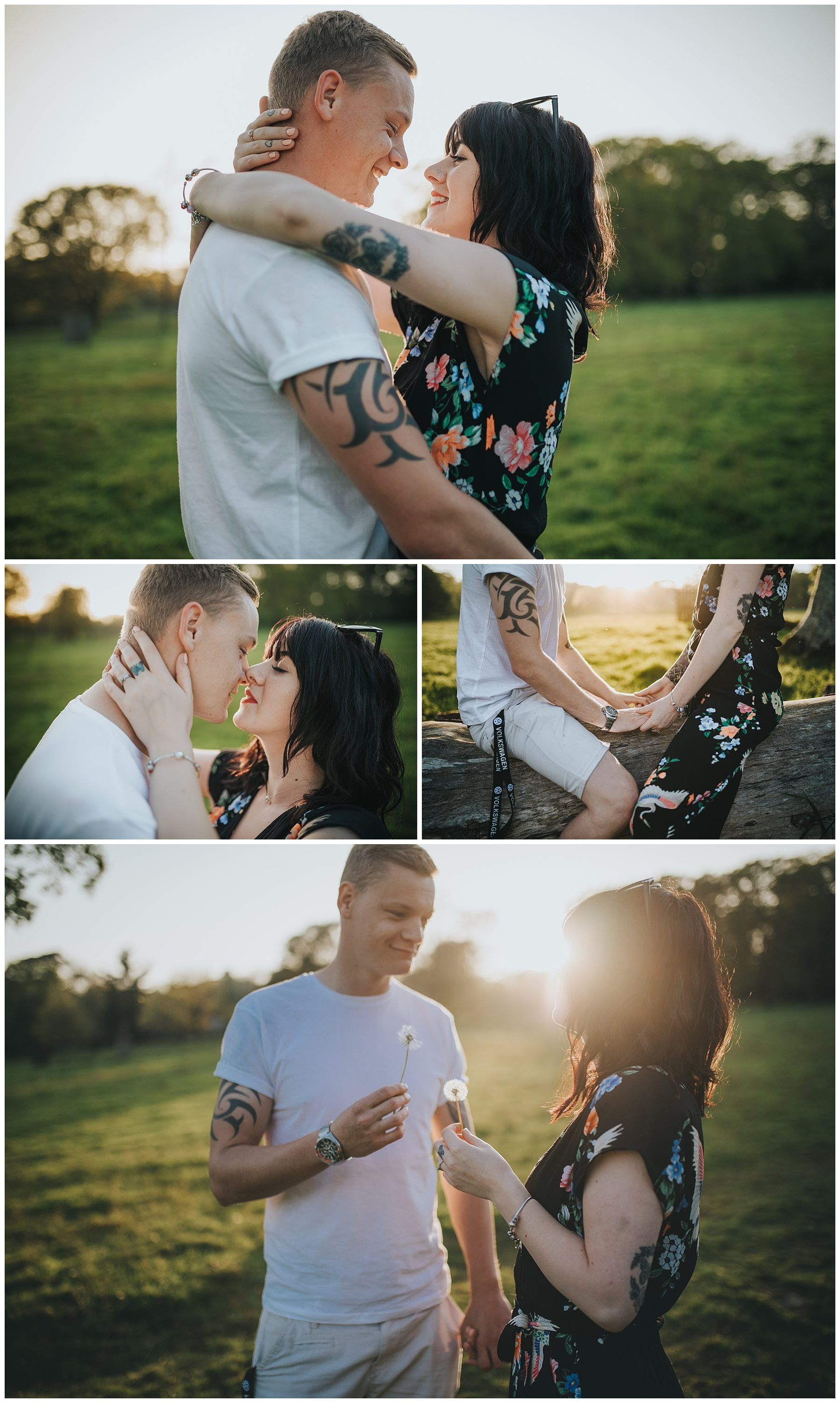 Sunset Couple engagement photography in Cornwall