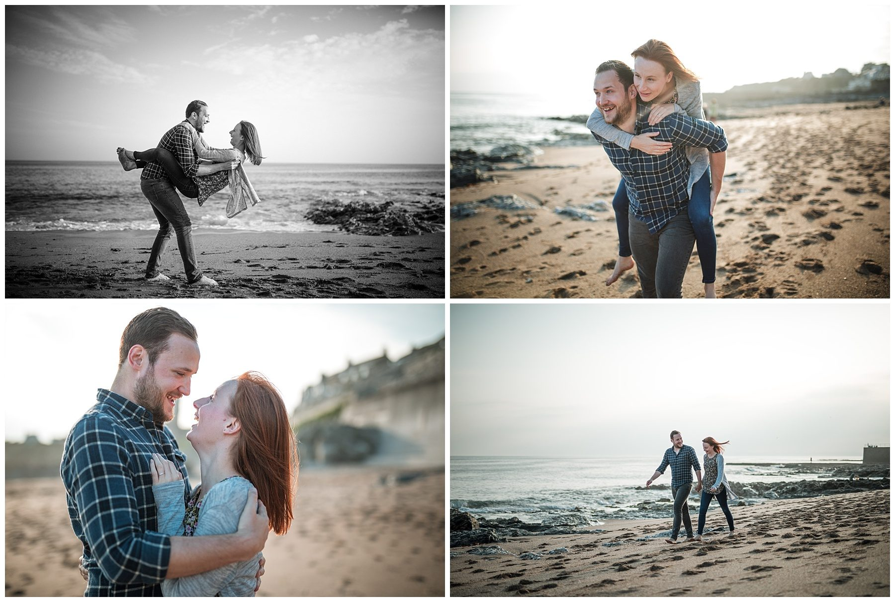 couple photography on beach in Cornwall