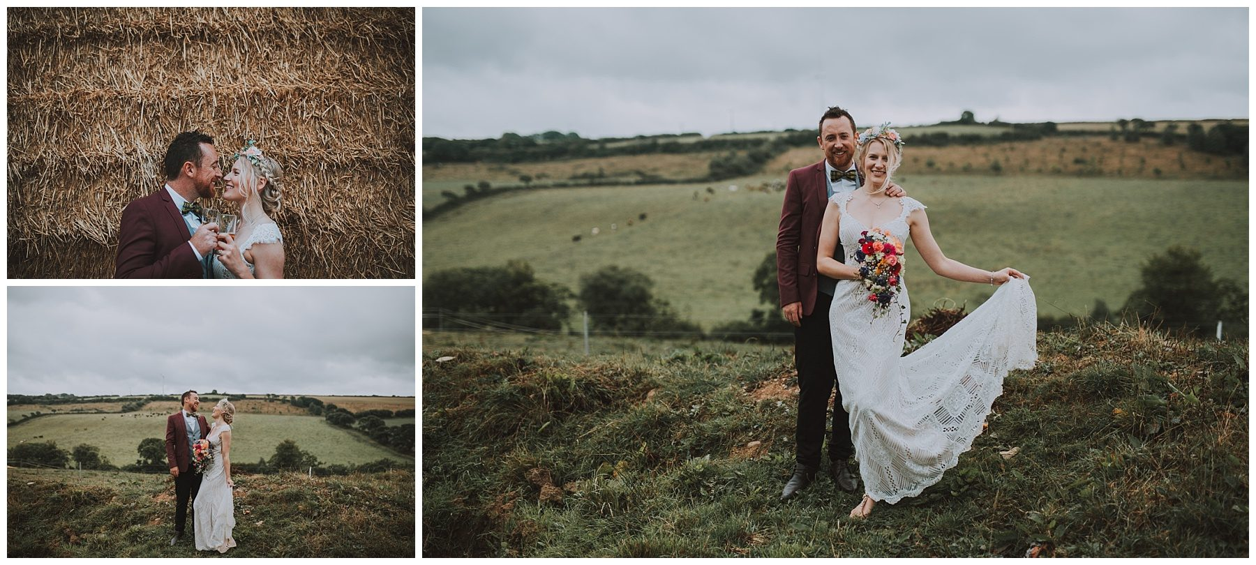 Wedding photos Cornwall Rustic farm wedding