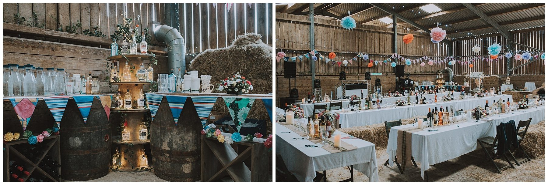 Farm barn wedding details
