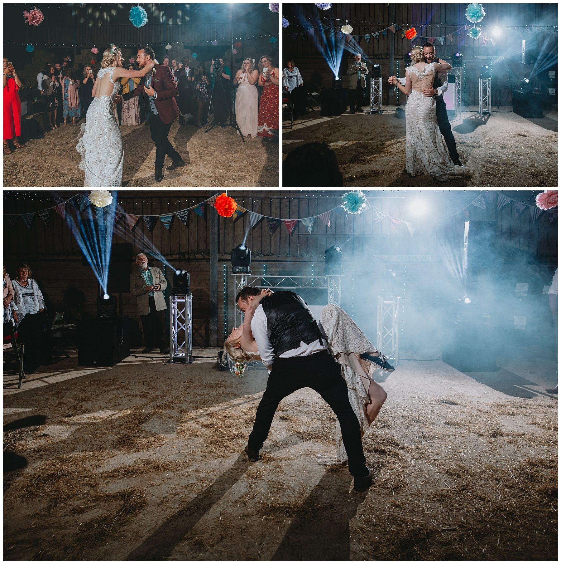 Cornwall rustic barn farm wedding first dance