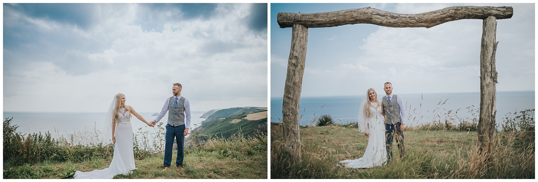 Cornwall wedding photography couple shots