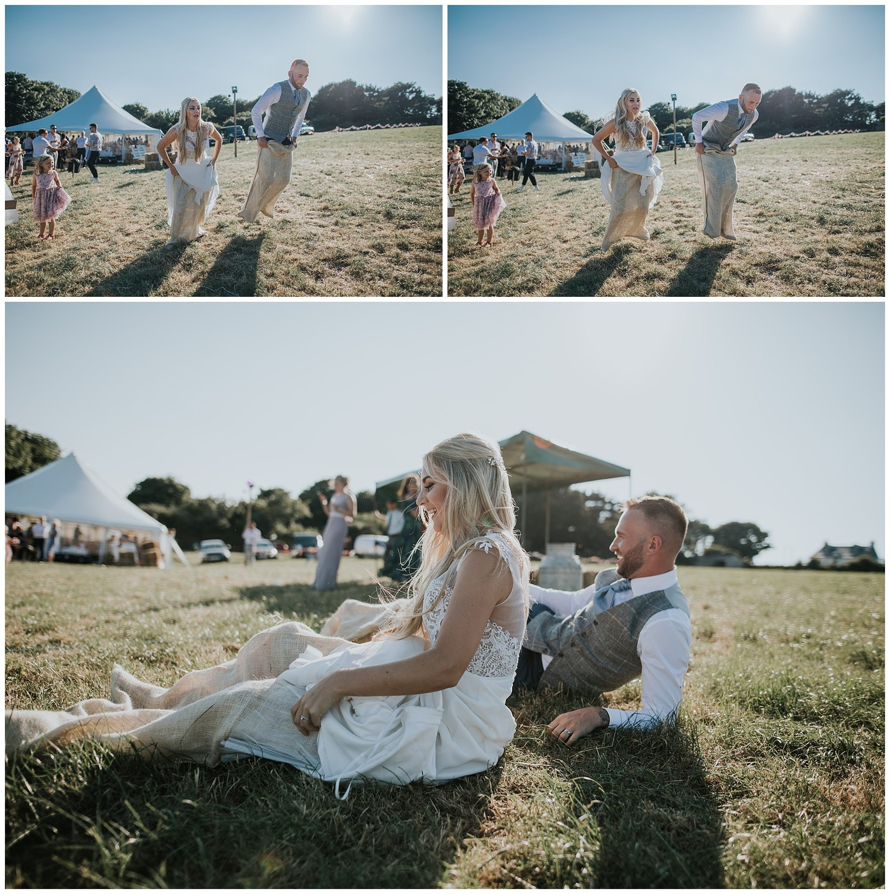 sack race wedding