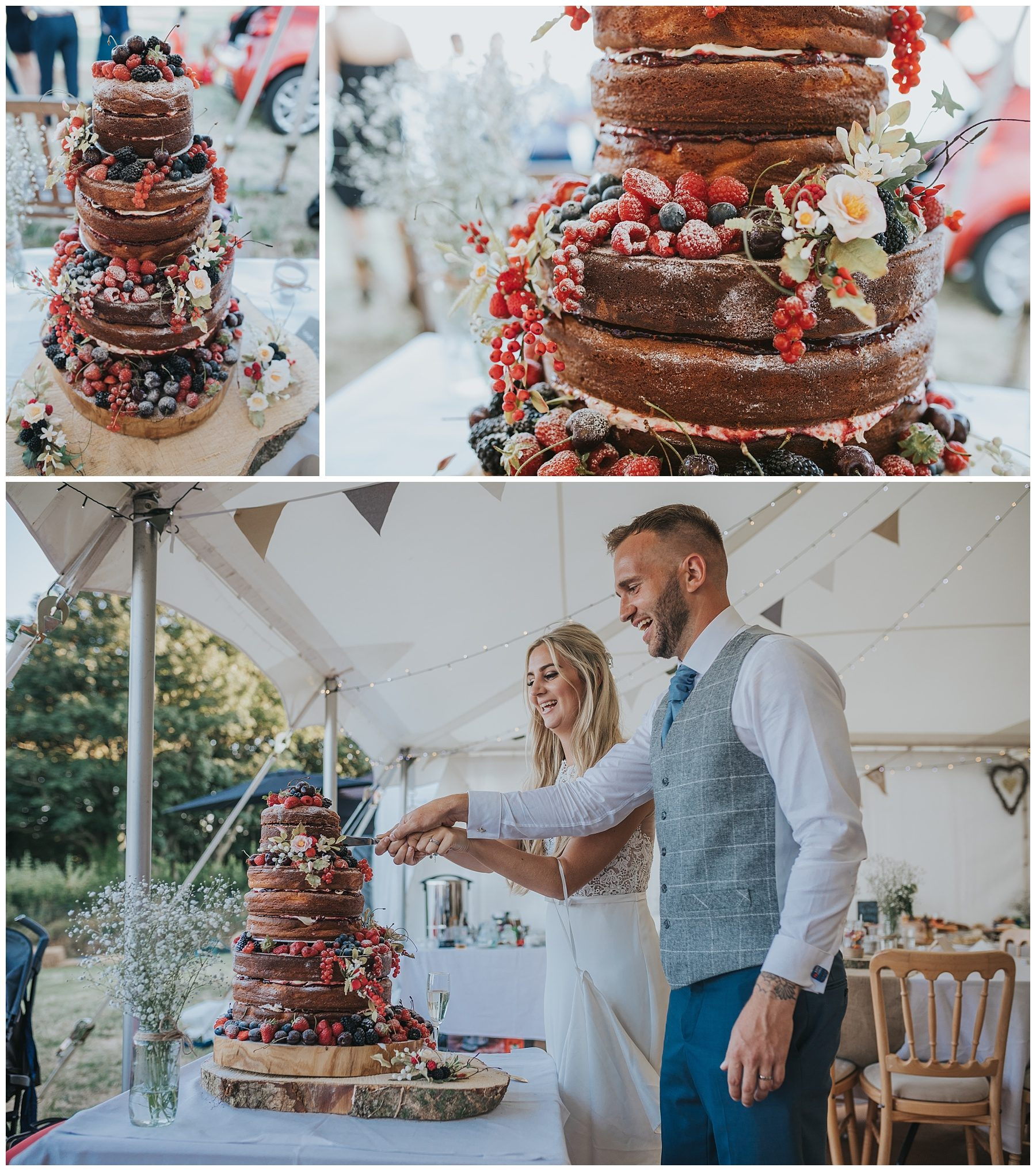 naked wedding cake cornwall
