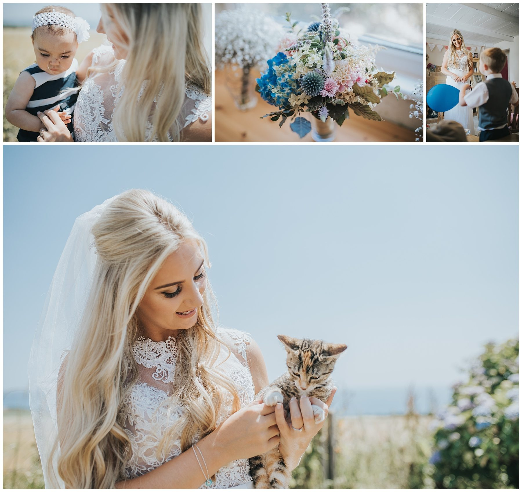 Bride with kitten
