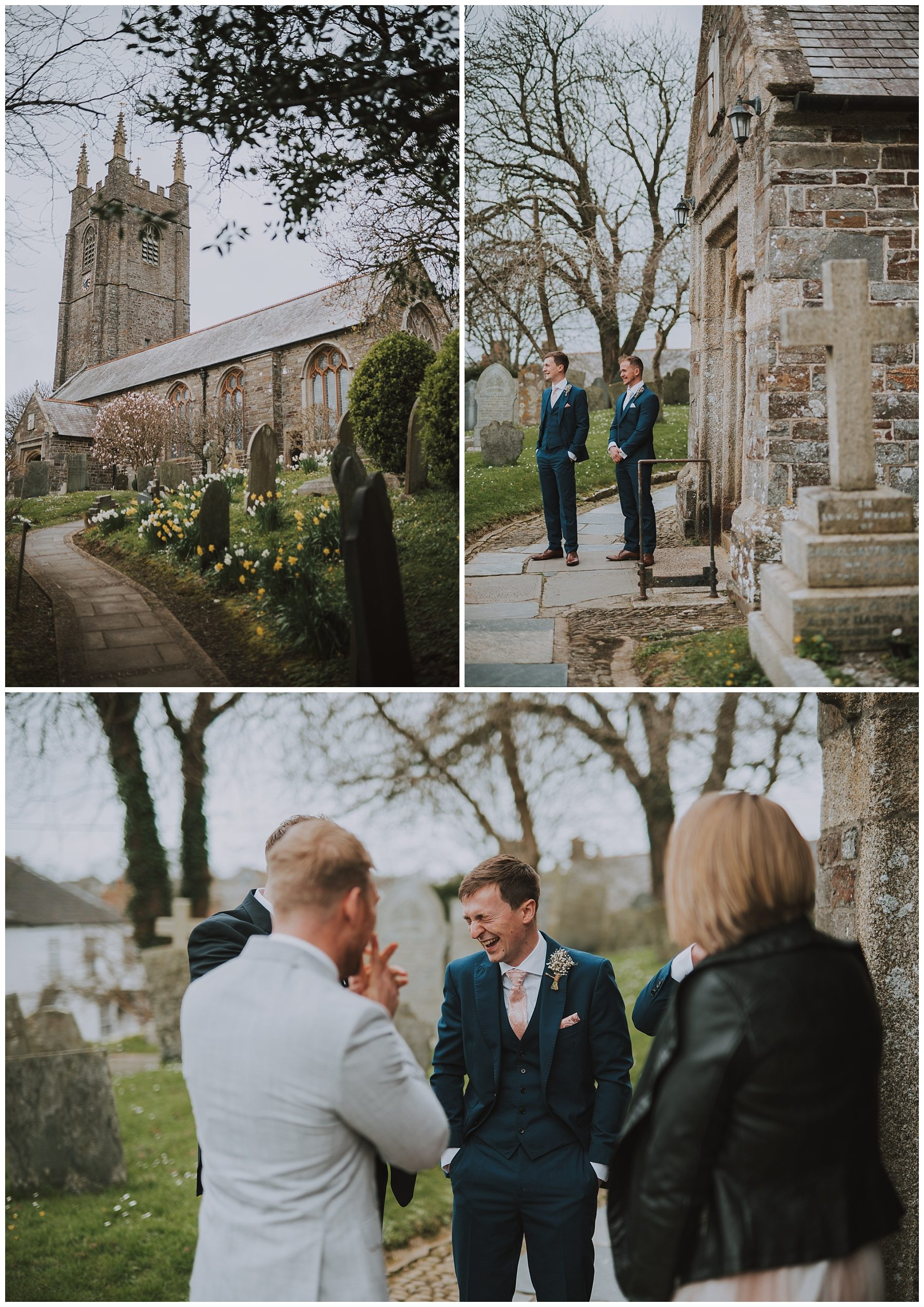 Cornish Church wedding day