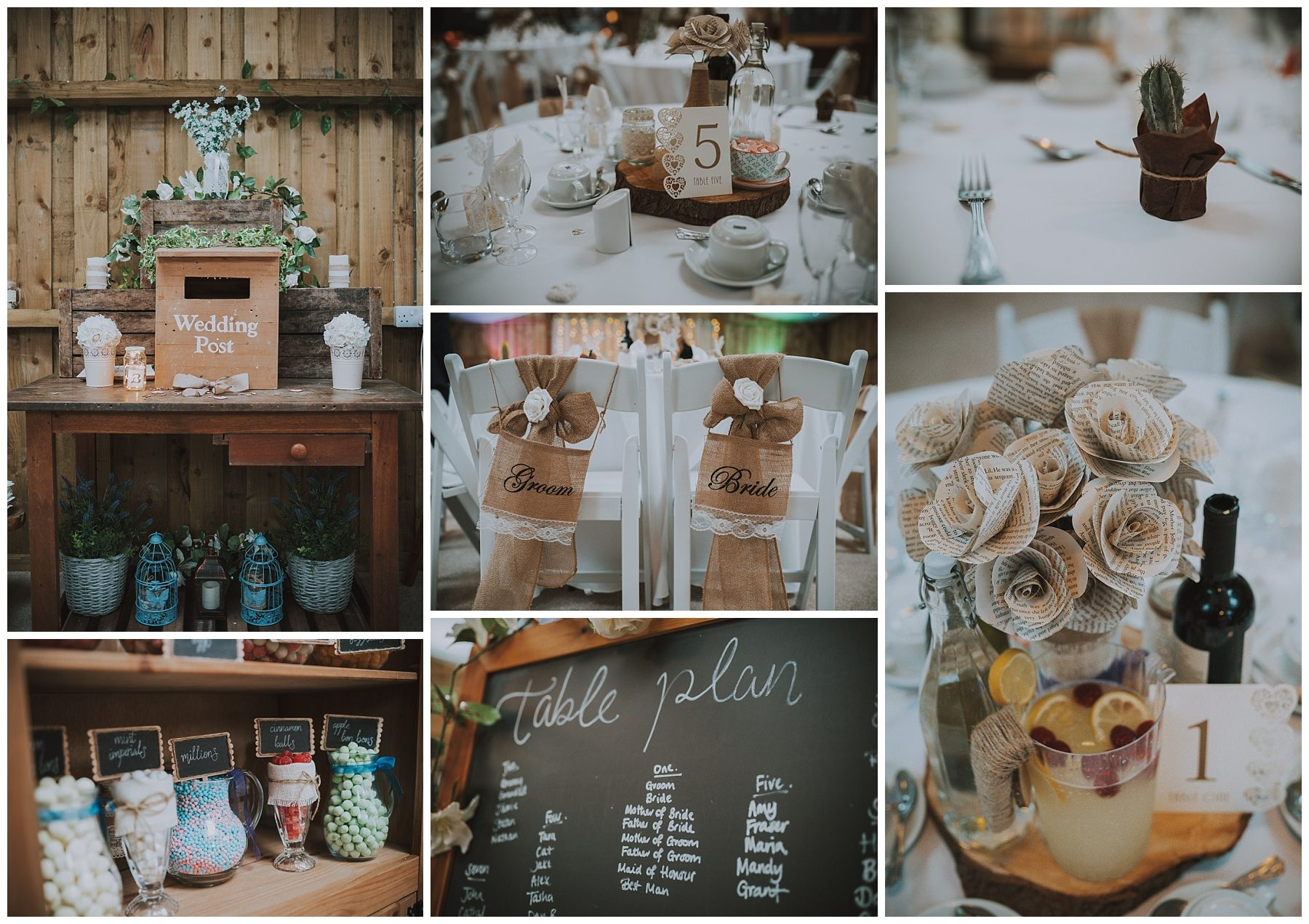 Cornwall rustic wedding barn details