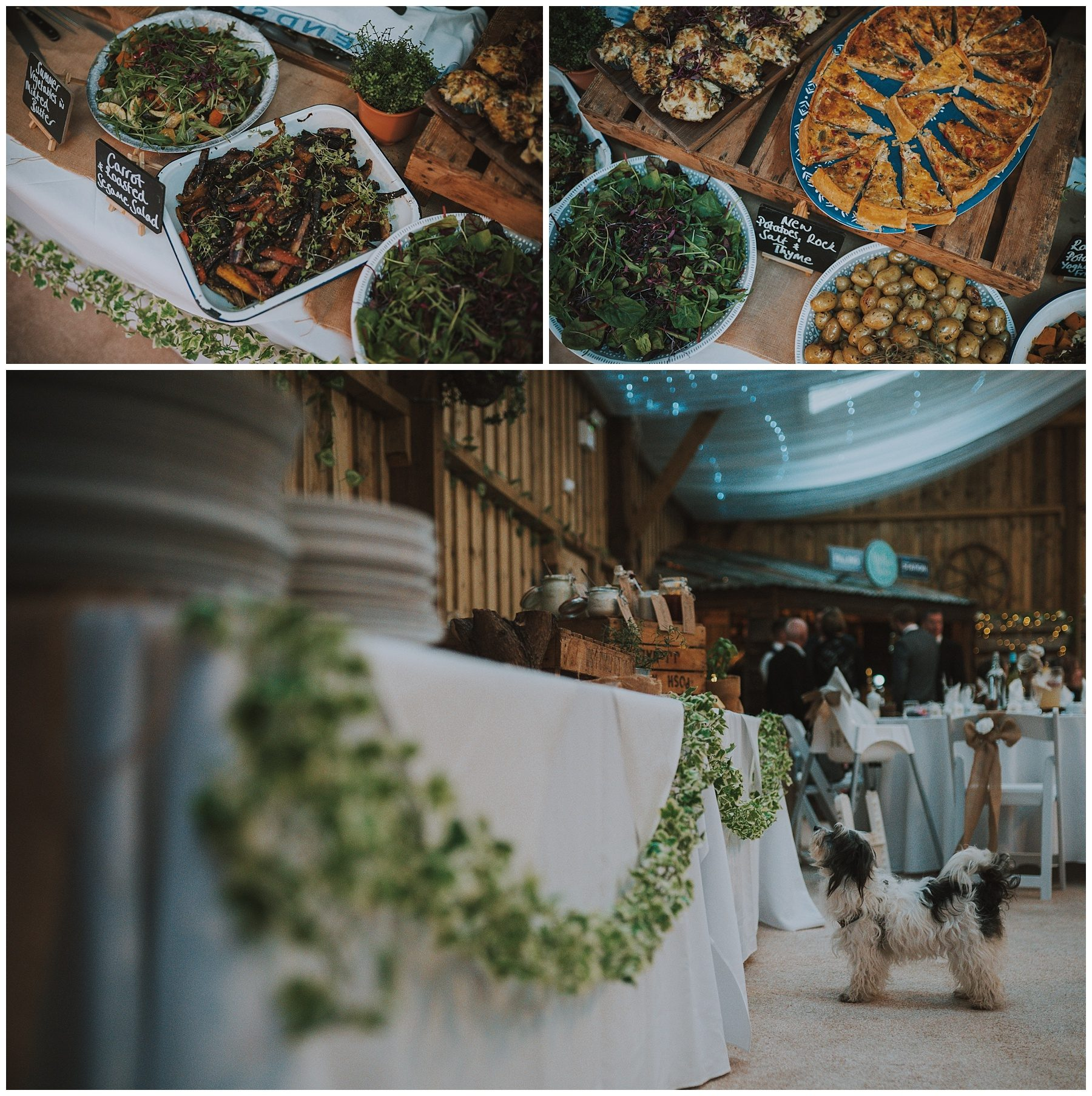 Cornwall rustic wedding barn food