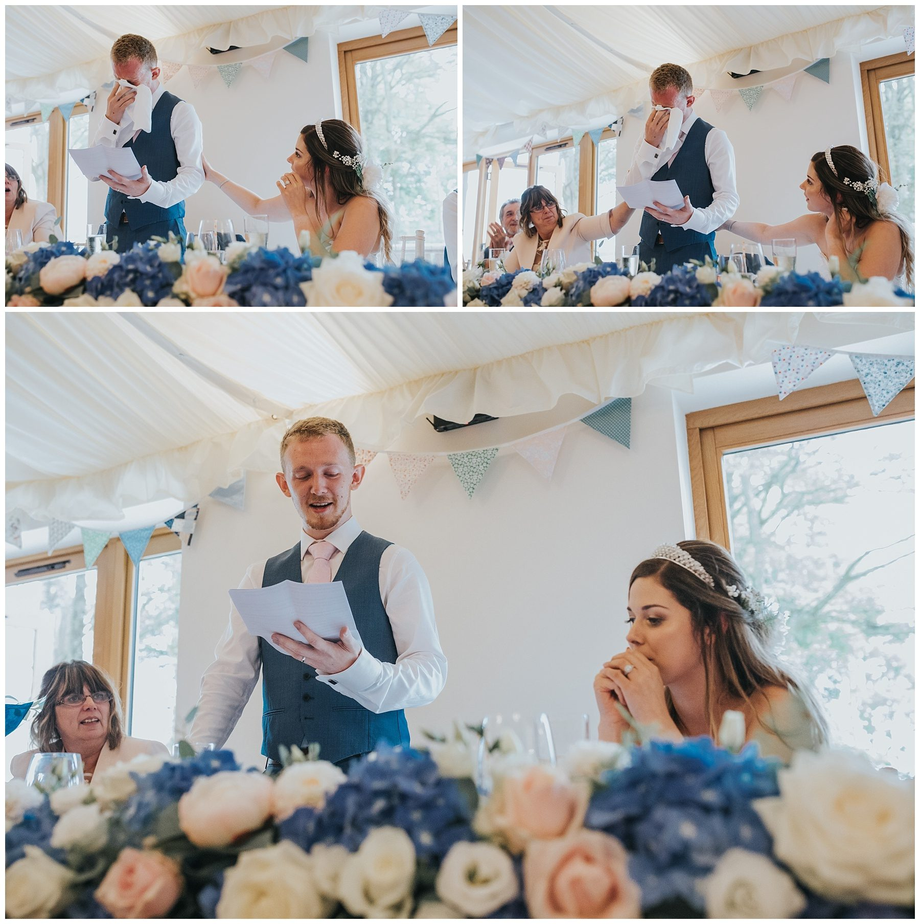 Emotional groom speech to bride