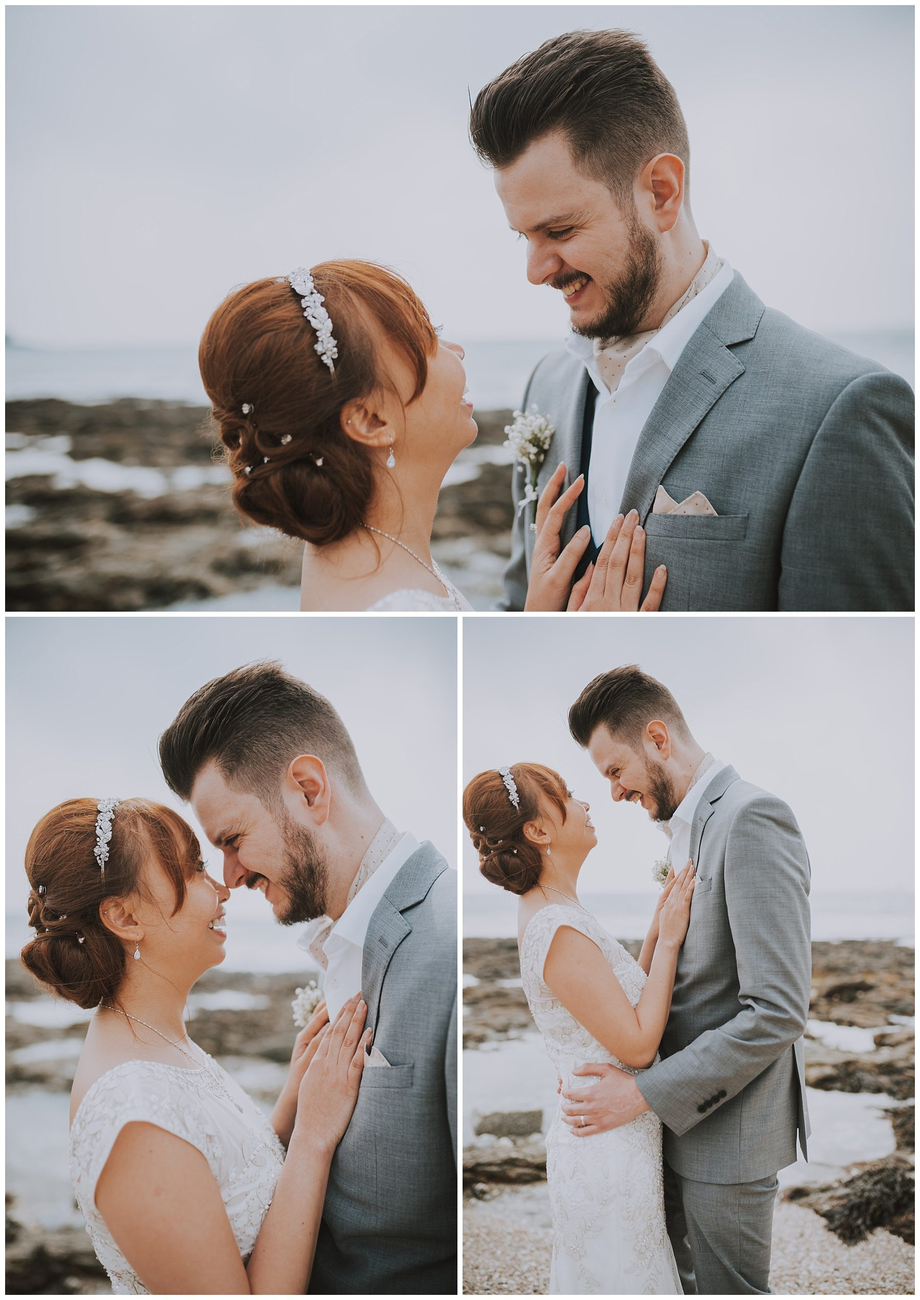 Falmouth beach wedding photography