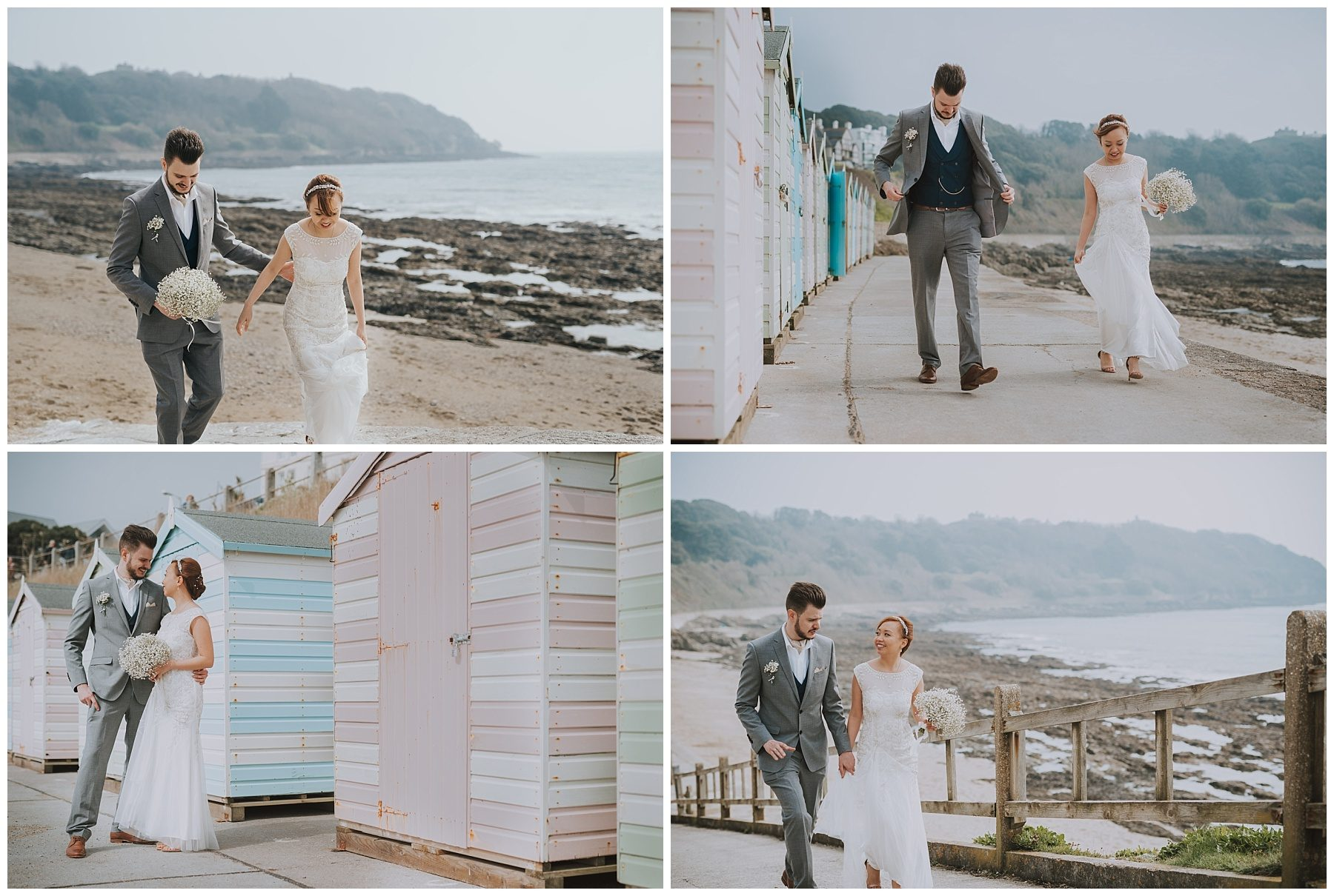 Wedding Couple falmouth cornwall beach photography