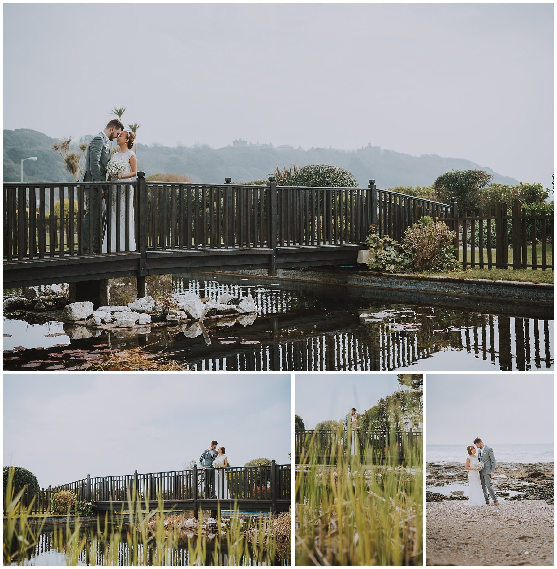 Wedding couple photography Falmouth Cornwall Hotel