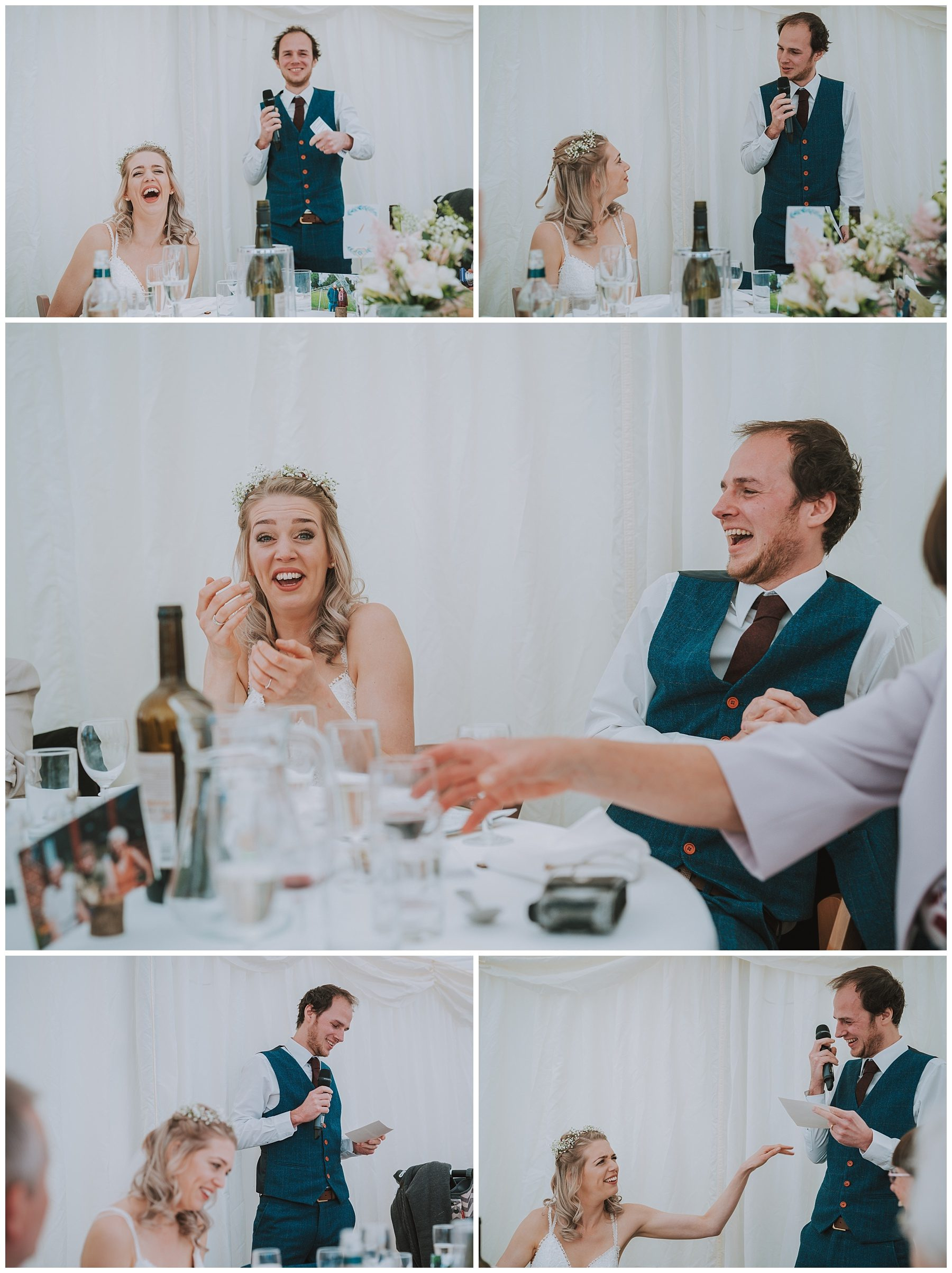 Ta mill marquee wedding speech cornwall photographer
