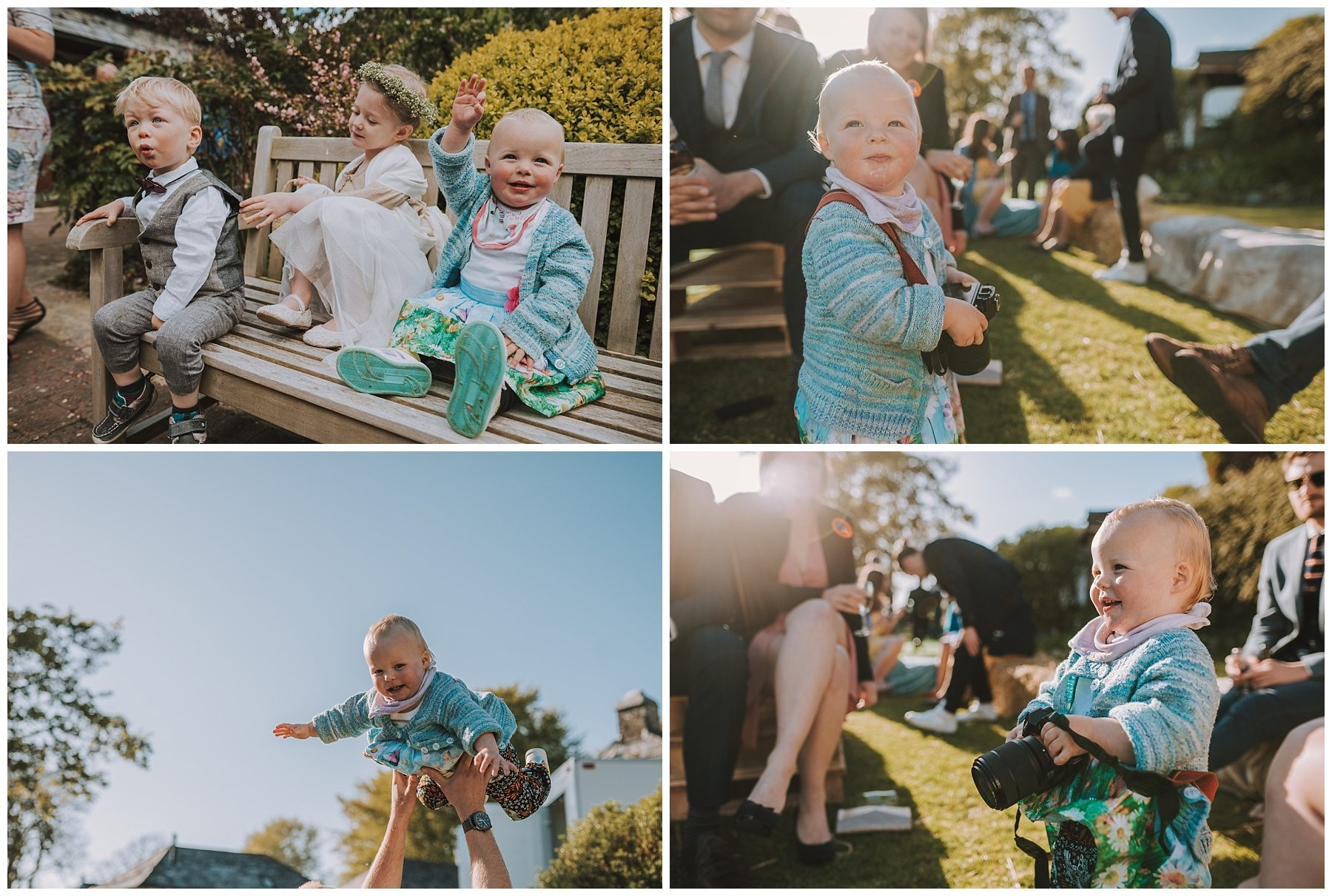 Children at wedding ta mill cornwall wedding photographer