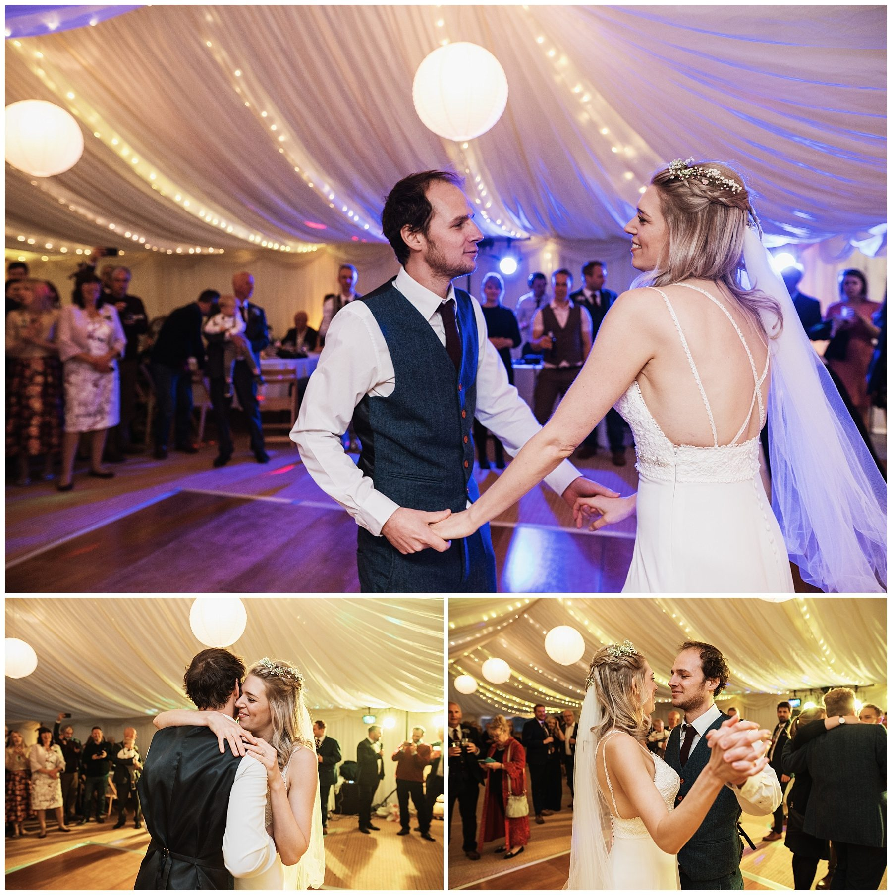 Ta mill marquee cornwall first dance wedding