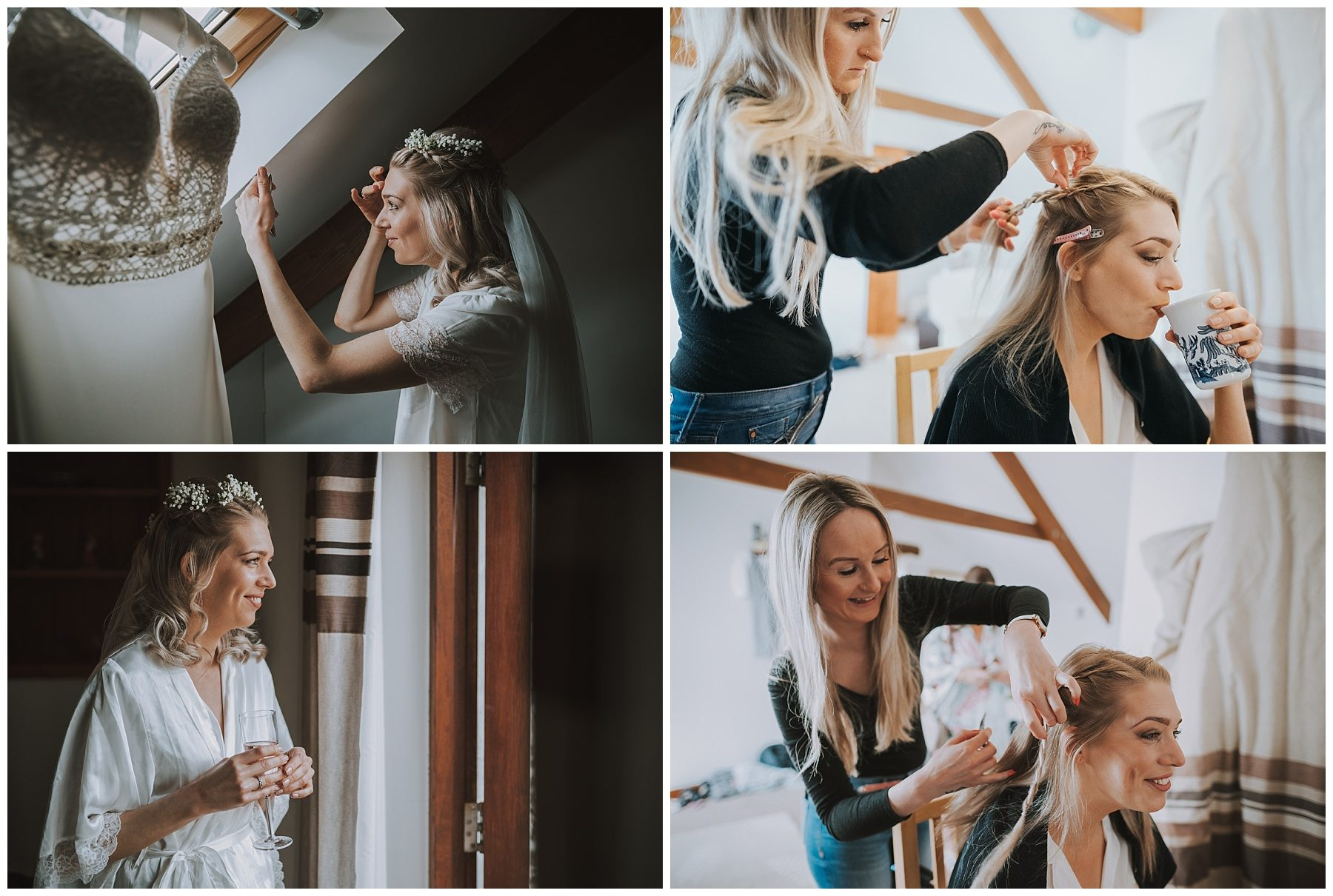 Bridal hair Ta Mill Cornwall Wedding Photographer
