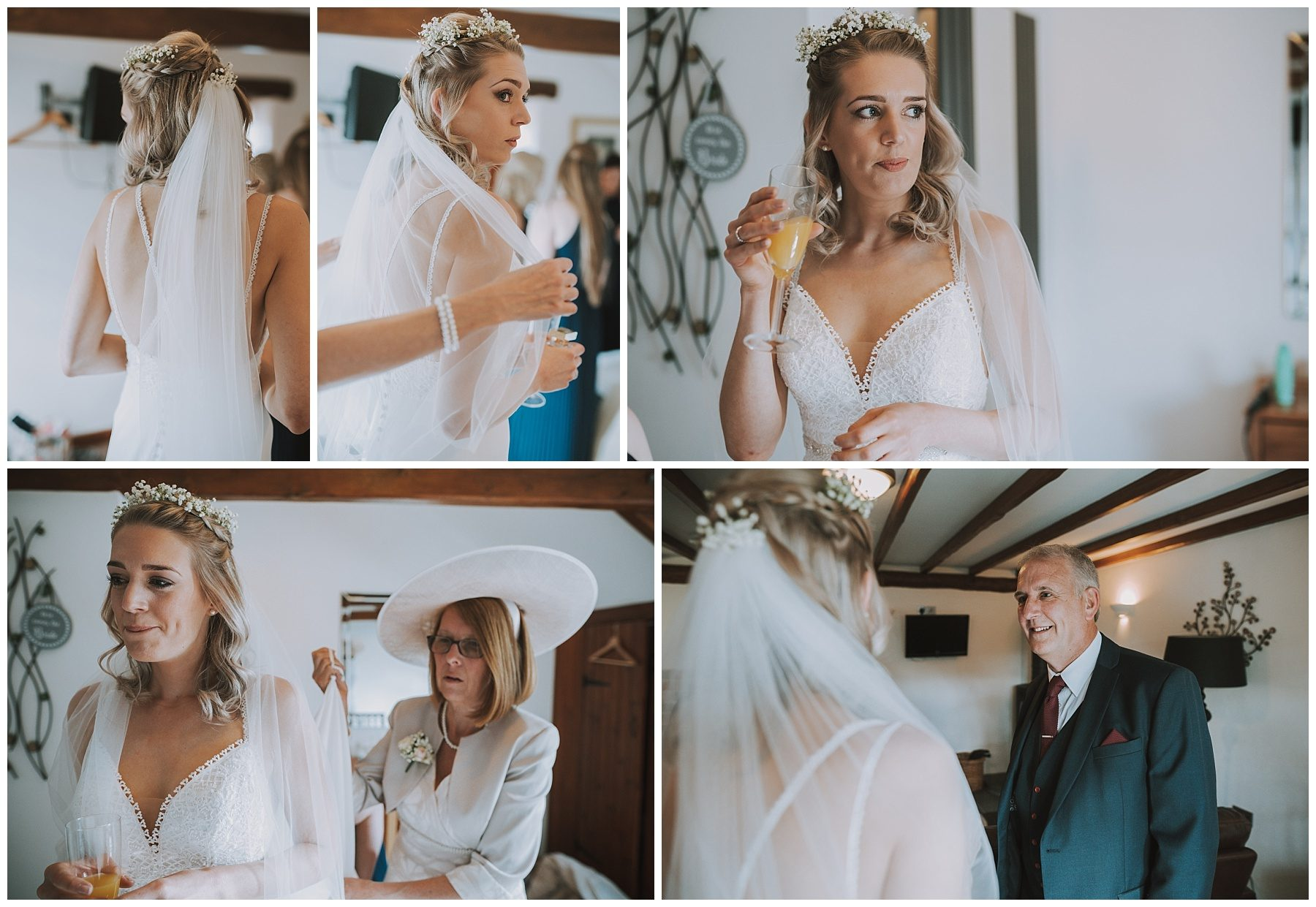 Bridal Dress Ta Mill Cornwall Wedding Photographer
