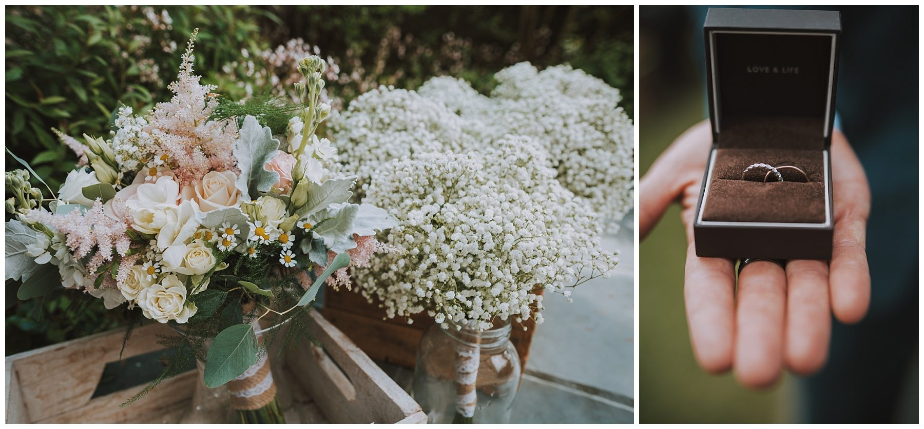 Wedding Flowers and Ring Photography