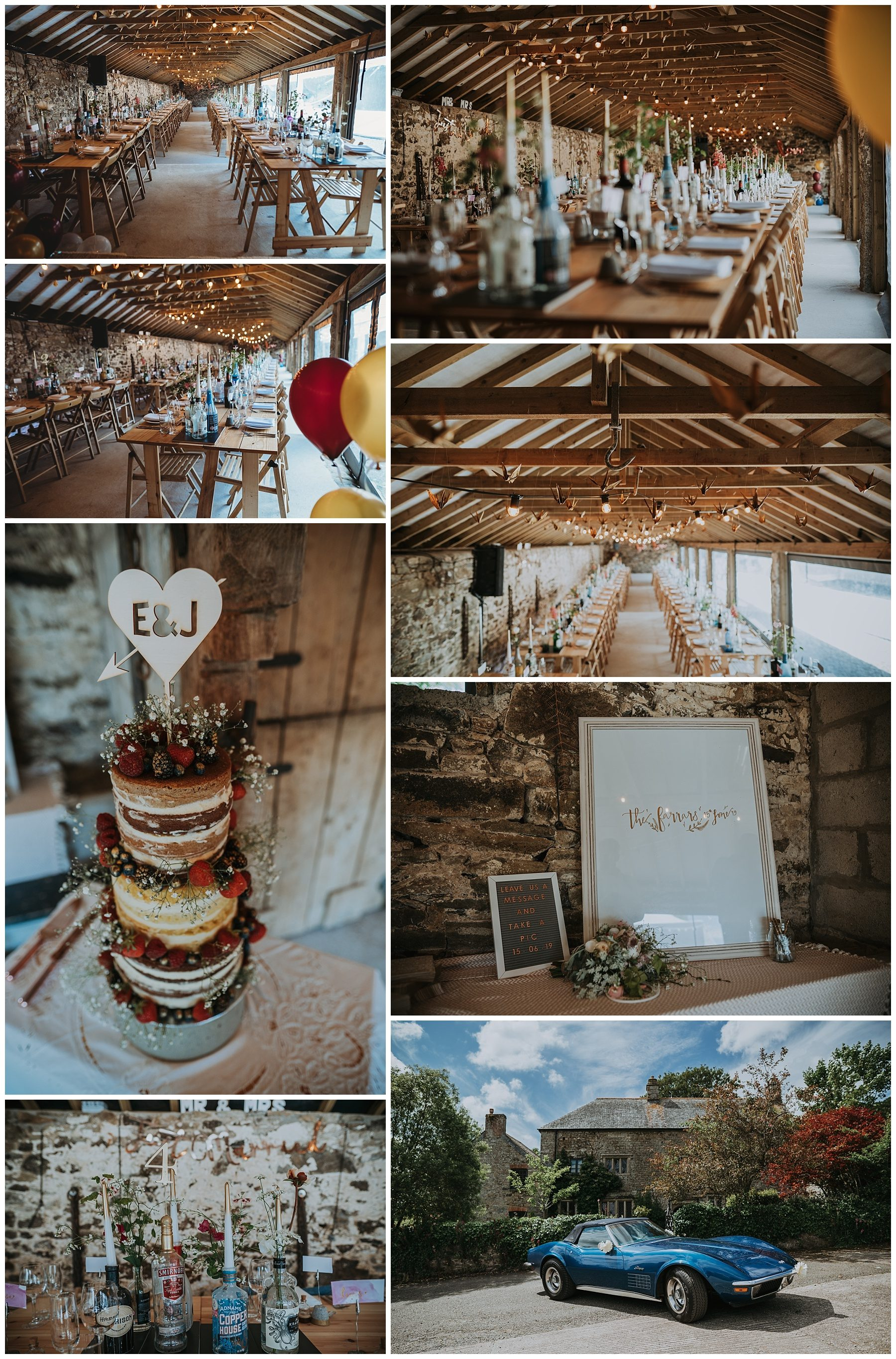 Pengenna Manor cornwall internal wedding table photography