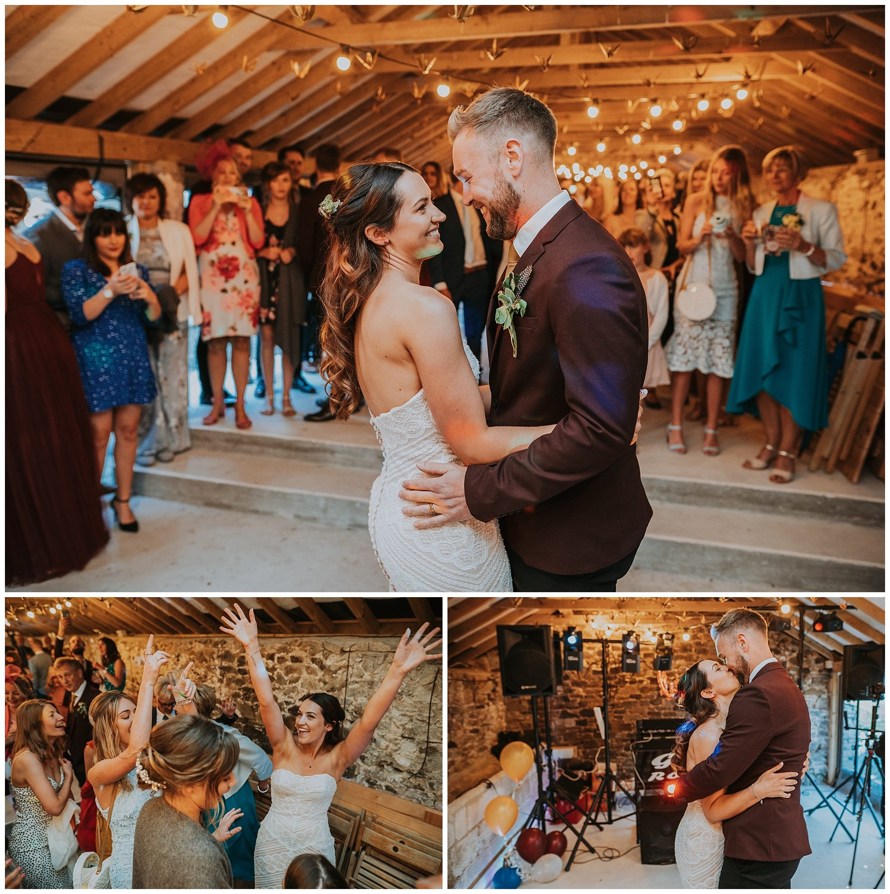 Pengenna Manor Cornwall wedding first dance