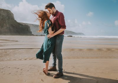 054Cornwall Engagement Couple Shoot Photography
